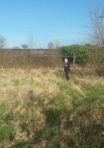 ABUHB Chairman David Jenkins takes a stroll around the Walled Garden - April 2015